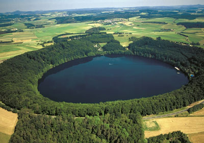 Aerial Picture of the Vulcanic Eifel